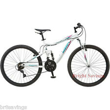 "Mongoose Women's Mountain Bike Bicycle Aluminum Frame 26"" Full Suspension"
