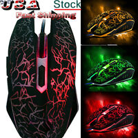 4000DPI Optical Wired Gaming Mouse Professional Colorful Backlight Gamer Mice M