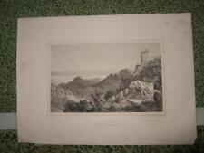 1850s,1ENG.GOOD L-VIEW,OF FORT PRECIECA,CROATIA-MONTENEGRO?,DALMATIA