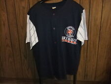 vintage 90s Detroit Tigers jersey 1992 blue gray sleeves XL button missing