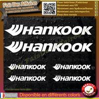 6 Stickers Autocollant hankook sponsor échappement lot planche sticker decal