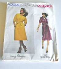 Vintage American Designer Vogue Dress Pattern— Jerry Silverman — Bust 38
