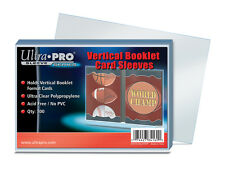 (100) Ultra Pro Vertical Booklet Trading Card Sleeves Fits Book Card Toploads