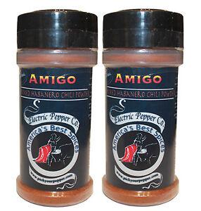Smoked Habanero Chili Pepper Powder Chipotle Dried Hot Spice 2 x 1.5 oz Amigo