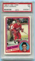 1984/85 OPC Steve Yzerman Rookie Card #67 Detroit Red Wings PSA 7 NM