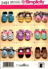 Simplicity Sewing Pattern 2491 Baby Shoes sizes XS-L