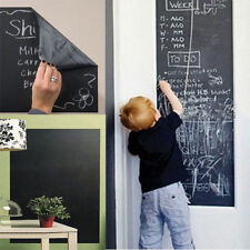 BLACKBOARD VINYL WALL DECAL SELF ADHESIVE REMOVABLE 110CM x 45CM + 5 FREE CHALK*