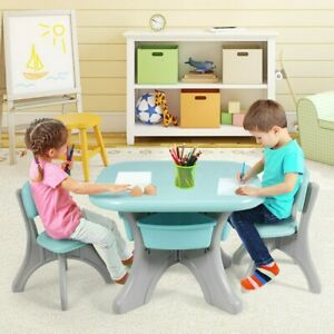 Children's Table and Chairs Set, Children's Activity Table with Storage Bins