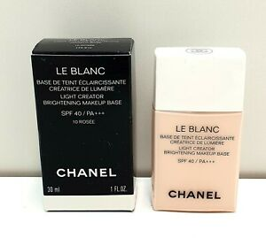 CHANEL LE BLANC LA BASE N'10 ROSEE CORRECTING BRIGHTENING MAKE UP BASE