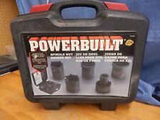 POWERBUILT 5PC SPINDLE NUT SOCKET SET Kit 11 #648636