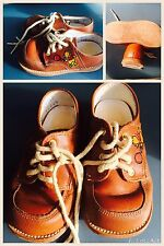 "Vintage Leather Shoes Toddler 5 1/2"" D From The Winnie The Pooh Collection"