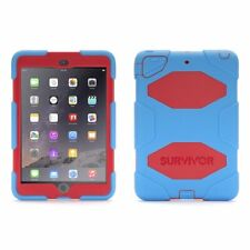Griffin Survivor iPad Mini 1/2/3 Case and Stand with Touch ID (Blue/Red)