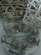 Porte-bougies Verre Transparent Rose Photophore chandeliers romantique