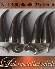 Nr.9-5 Stück Säbel-Krallen messing-vernickelt,37x10mm,Schraubnieten,Killernieten