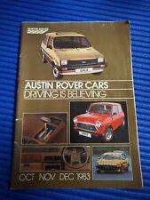 Austin Rover All Model Catalog Mini,Metro,Maestro,Ital,Ambassador,Rover,Triumph