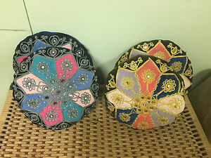 Decorative Persian Style Pillows designed with mirror stone (Set of 4)
