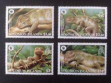 Islas Salomón 2005 WWF skinks conjunto SG 1162-1165 estampillada sin montar o nunca montada