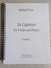 Aleksei L'Vov 24 Caprices Vol 1 Violin & Piano Vol 1 Two Parts Unused