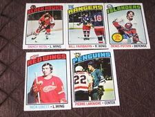 1976-77 TOPPS HOCKEY 5 CARD LOT #47-171-199-57-170