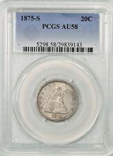 1875-S Twenty Cent Piece PCGS AU58 Super Nice! #BMO7 20C