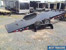 2018 hawke 20 ft 15k New 7 x 20 power tilt equipment carhauler bobcat trailer HD