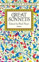 Great Sonnets (Dover Thrift Editions) by Paul Negri
