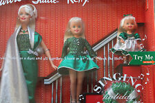 NIB BARBIE DOLL 2000 CHRISTMAS HOLIDAY SINGING SISTERS STACIE KELLY MUSICAL