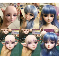 """24"""" Girl Doll Head Model Body Part without Hair for 1/3 BJD Doll White Skin"""