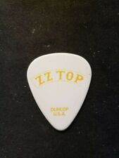 Zz Top Dusty Hill The Dust White/Yellow Guitar Pick - 2012 Gang Of Outlaws Tour