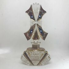 Vintage Czech art deco c1930, glass perfume bottle