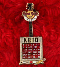 Hard Rock Cafe LAS VEGAS Pin KENO GUITAR gaming series LE 300 casino LAPEL HAT