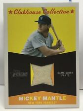 Mickey Mantle 2009 Topps Heritage Clubhouse Collection Relic GU Jersey Pants  SP