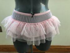 Ann Summers RARE NEW 8-10 Pale Rose Pink TUTU Frill Full Bottom Knicker £16 NEW