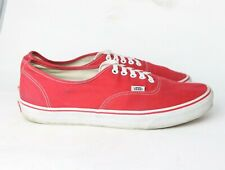 Vans Off The Wall 721461 Low Top Red Canvas Sneaker Shoes Men's Size 13