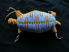 VINTAGE NATIVE AMERICAN BEADED LEATHER FETISH, LIZARD AMULET,  SD-1020*D-293