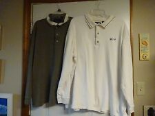 2 GREG NORMAN Golf Men's Shirts Size XL, Long Sleeves, Collar, 3 Button Placket