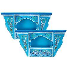 SET OF 2 - Rustic Floating Shelves Blue sky Vintage look, Wall Shelves Floating