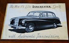 Lanchester Sprite brochure Prospekt, 1955