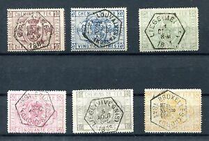 1879.BELGICA.BELGIQUE.PAQUETE Postal.yvert 1/6 (Or) .usado .catalogo