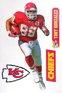 Tony Gonzalez Kansas City Chiefs Fathead Teammate Sticker Wall Decal 11x17