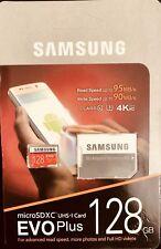 Samsung 128GB Micro SD SDXC MicroSD MicroSDXC Class 10 100MB/s 128 G GB EVO Plus
