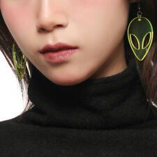 Exaggerated Aliens Acrylic Drop Alien Face Earrings Alien's Head Earring Hook