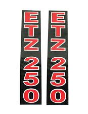 2 Klebefolie Aufkleber Telegabel Holme MZ ETZ250 ETZ 250 schwarz rot Kleber