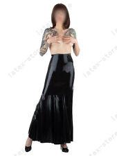 612 Latex Rubber Gummi long maxi trumpet Skirt dress customized 0.4mm catsuit