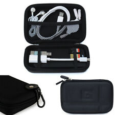 Travel Storage Bag Organizer Case Box W/ Clip For USB Cable Earphone Power Bank