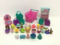 Shopkins Huge Lot Playset 25 Figures Baskets Bags Accessories EF