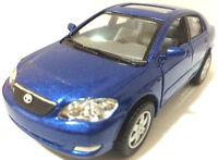 "Kinsmart 1:36 scale Toyota Corolla diecast model car PULL BACK ACTION 5"" Blue"