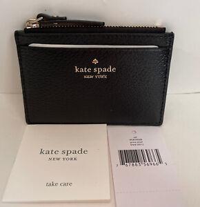 NWT!!Kate Spade Grove Street Adi Small Card Holder Wallet In Black