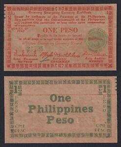 Filippine / Philippine 1 peso 1945 SPL/XF  B-09