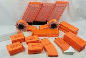 Nerf and Nerf Rivals Magazine Clips and Drum Magazines Mixed Lot of 25